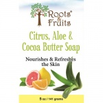 Bio Nutrition Roots & Fruits Bar Soap Citrus, Aloe & Cocoa Butte