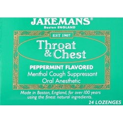 Jakemans Cough Drop Peppermint Menthol 24ct