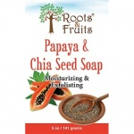 Bio Nutrition Roots & Fruits Bar Soap Papaya & Chia Seed 5oz