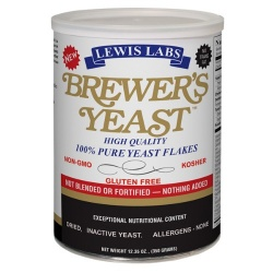 Lewis Labs Brewer's Yeast Flakes (Imported) 12.35oz