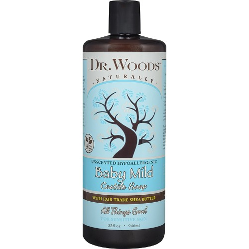 Dr. Woods Soap Baby Mild with Shea 32oz