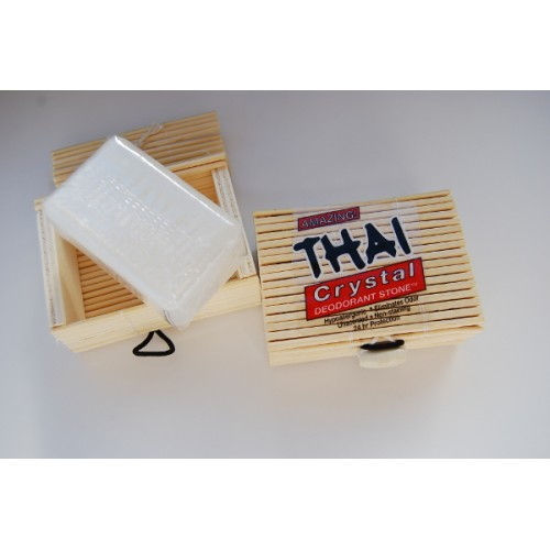 Deodorant Stones of America Deodorant bar in Bamboo Box 80 gms