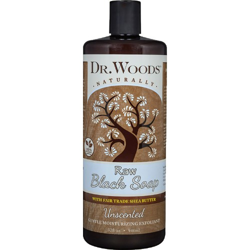 Dr. Woods Soap Black Unscented with Shea 32oz