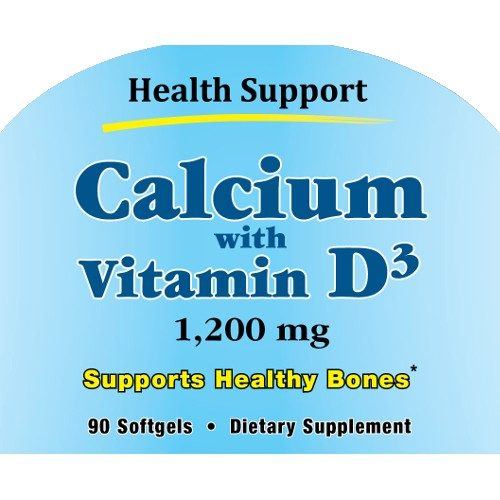Health Support Calcium W/ Vitamin D-3 90sg