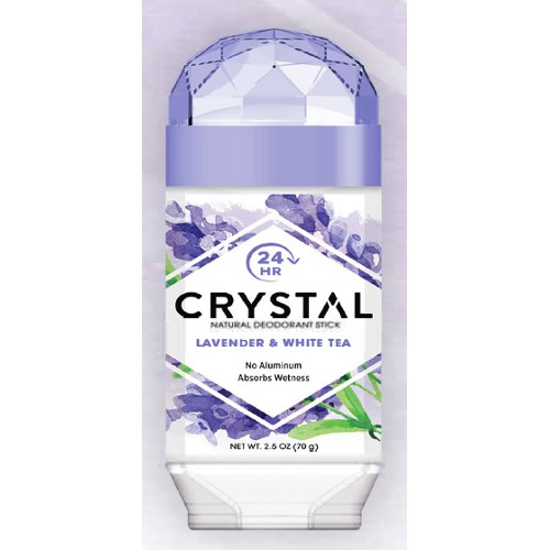 Crystal Deodorant Solid Stick Lavender & White Tea 2.5oz