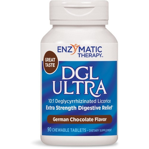 Enzymatic Therapy DGL Ultra Chocolate Chew 90tb