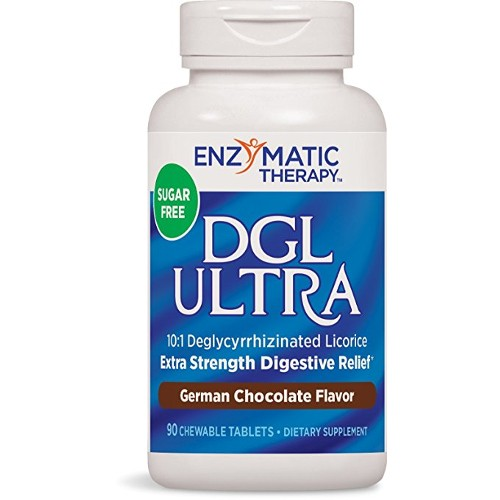 Enzymatic Therapy DGL Ultra Chocolate Sugar Free Chew 90tb