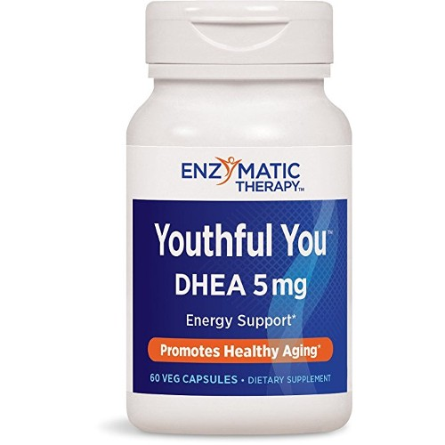 Enzymatic Therapy DHEA 5mg Youthful You 60vc