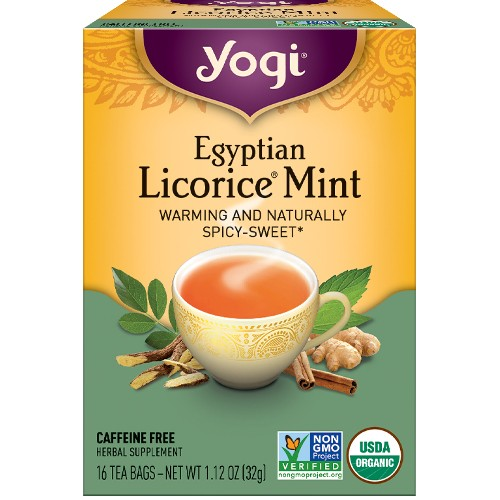 Yogi Tea Company Egyptian Licorice Mint 16bg
