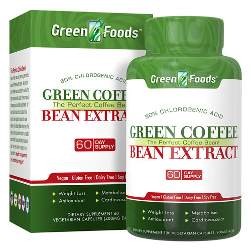 Green Foods Green Coffee Bean 400mg 120cp