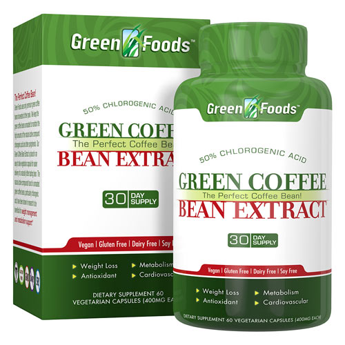 Green Foods Green Coffee Bean 400mg 60cp
