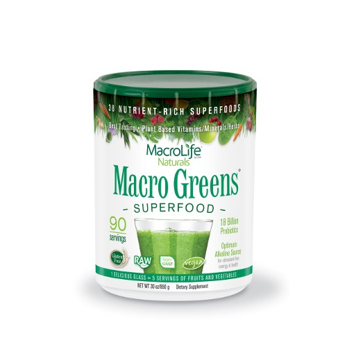 MacroLife Naturals Macro Greens 90-Serving 30oz