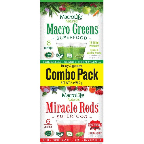 MacroLife Naturals Combo Pack Green/Red 4oz