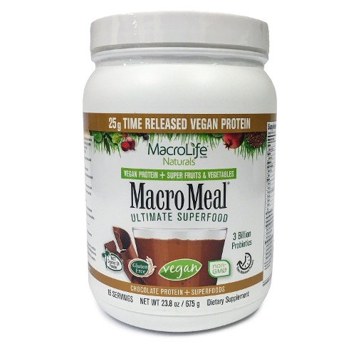 MacroLife Naturals Macromeal Vegan Chocolate 15 Servings 23.8oz
