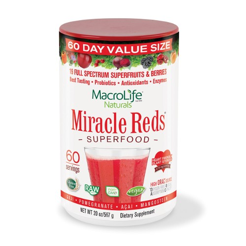 MacroLife Naturals Miracle Reds 60 Servings 20oz