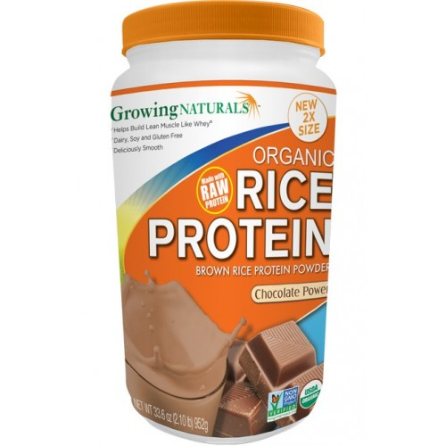 Growing Naturals Rice Drink Chocolate Powder Organic 2lb