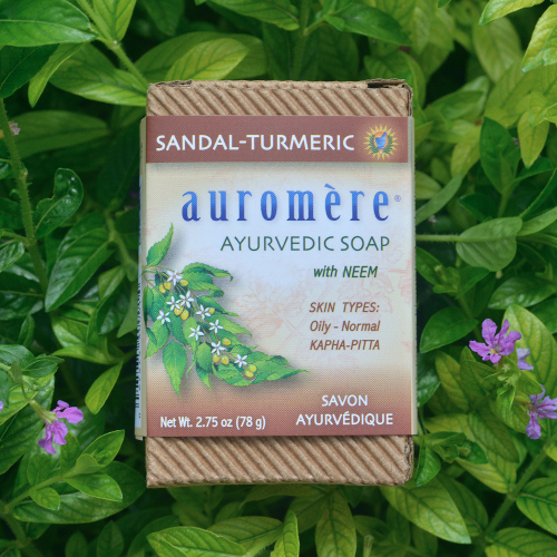 Auromere Bar Soap Sandal Tumeric 2.75oz