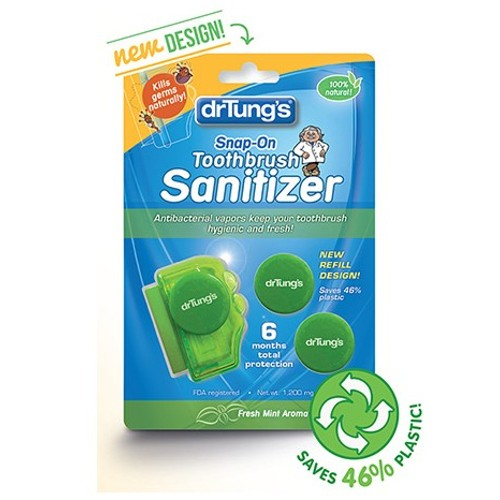 Dr. Tung's Products Toothbrush Sanitizer Adult 2pk
