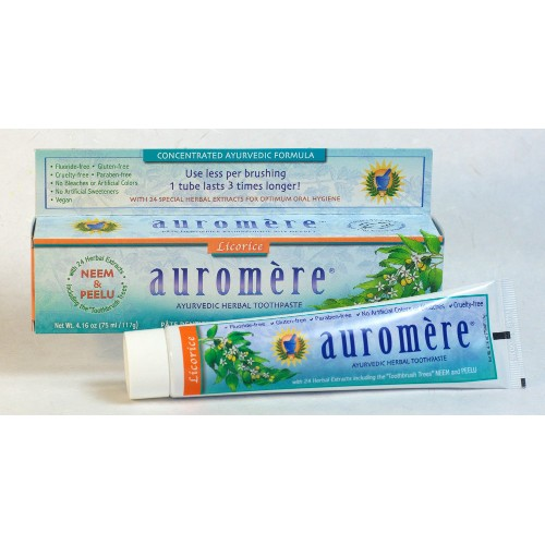 Auromere Toothpaste Licorice 4.16oz
