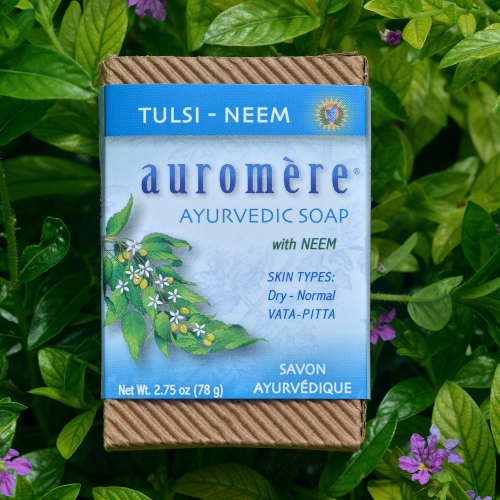 Auromere Bar Soap Tulsi Neem 2.75oz