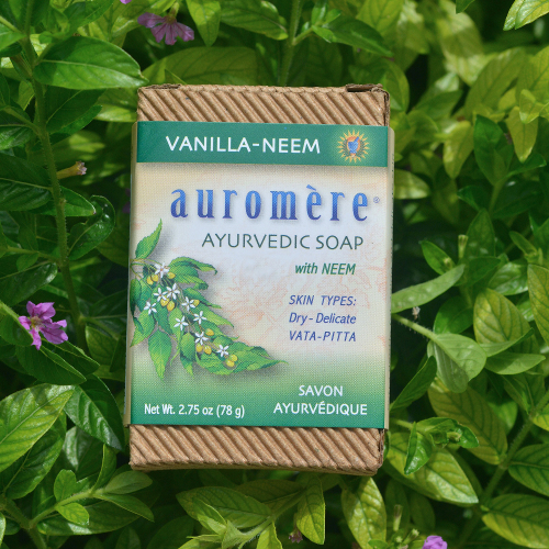 Auromere Bar Soap Vanilla Neem 2.75oz