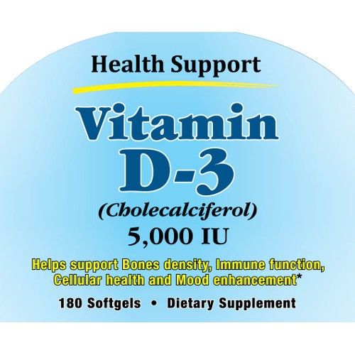 Health Support Vitamin D-3 180sg